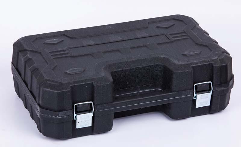 Akkumulátoros sarokcsiszoló praktikus dobozban