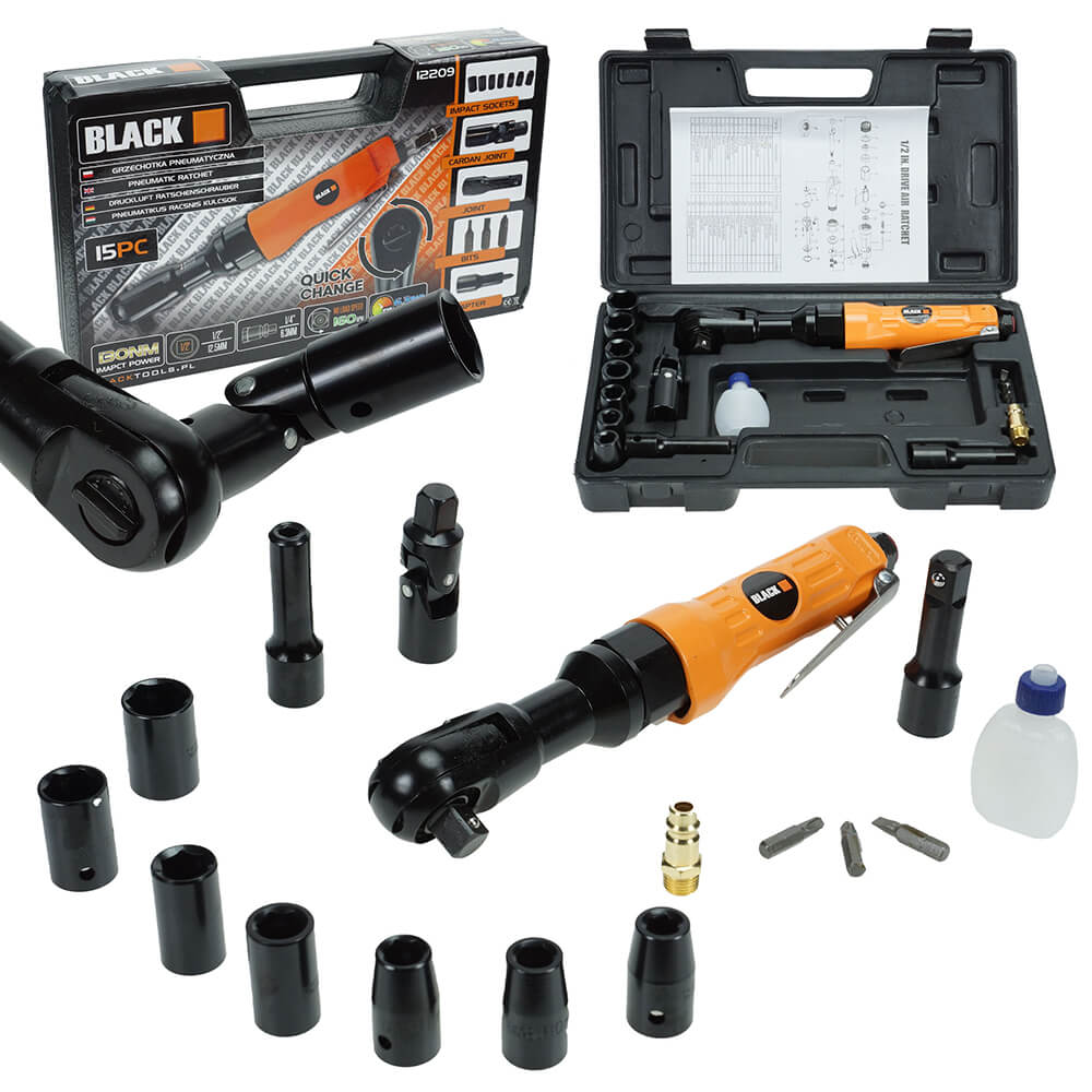 Blacktools black pneumatikus racsnis kulcs keszlet 15db 12209 1 1